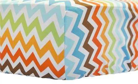 @rosenberryrooms is offering $20 OFF your purchase! Share the news and save!  Retro Chevron Crib Sheet #rosenberryrooms