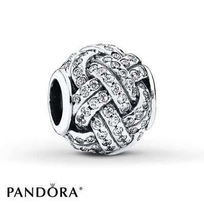 Pandora Charm Sparkling Love Knot Sterling Silver Sterling silver