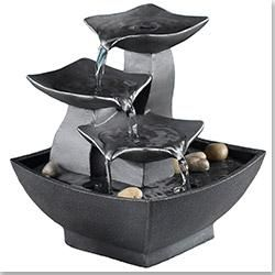 Kontiki Water Features Decorative Table Top Fountains Tabletop Leaves Fountain