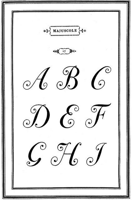 Giambattista Bodoni, Majuscole no. 17 (ca. 1788), shown in his Manuale Tipografico, Volume I, Parma, 1818.