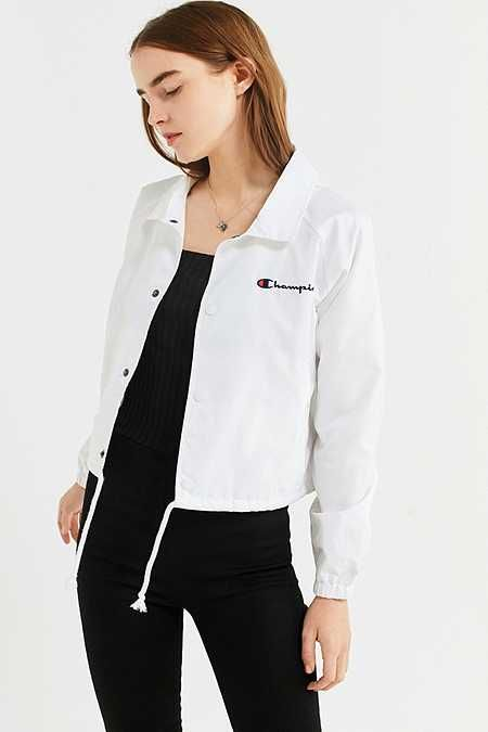 bab6920e890 Champion Cropped Coach Jacket | Clothes | Jackets, Fashion, Champion
