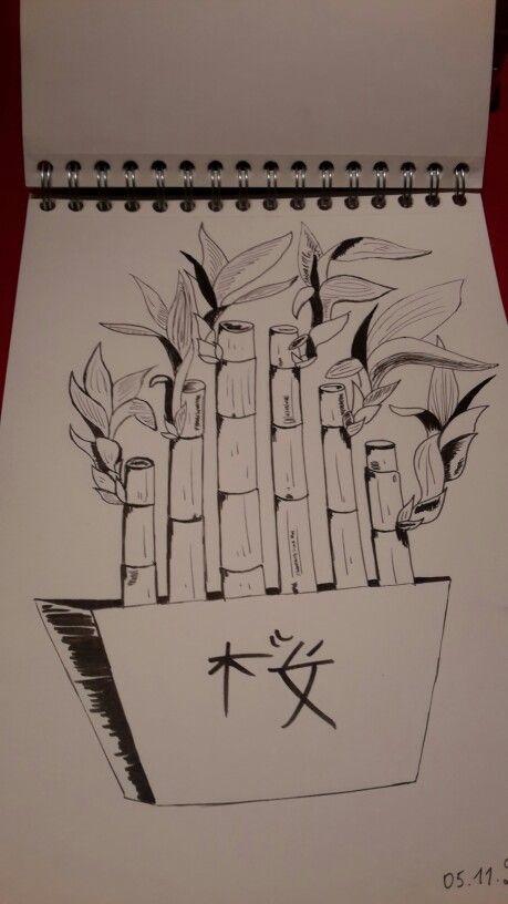 bambou  dessin bambou