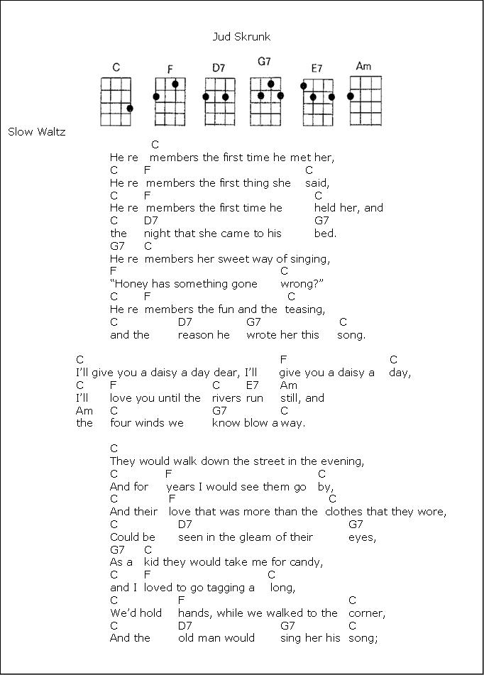 A Daisy A Day1 Ukulele Pinterest Guitars Songs And Sheet Music
