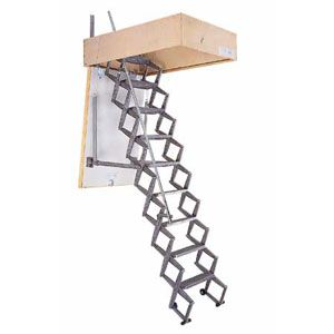 Telescoping Attic Stair; Calvert USA  sc 1 st  Pinterest & Stairs That Disappear | Attic stairs Attic and Tiny houses