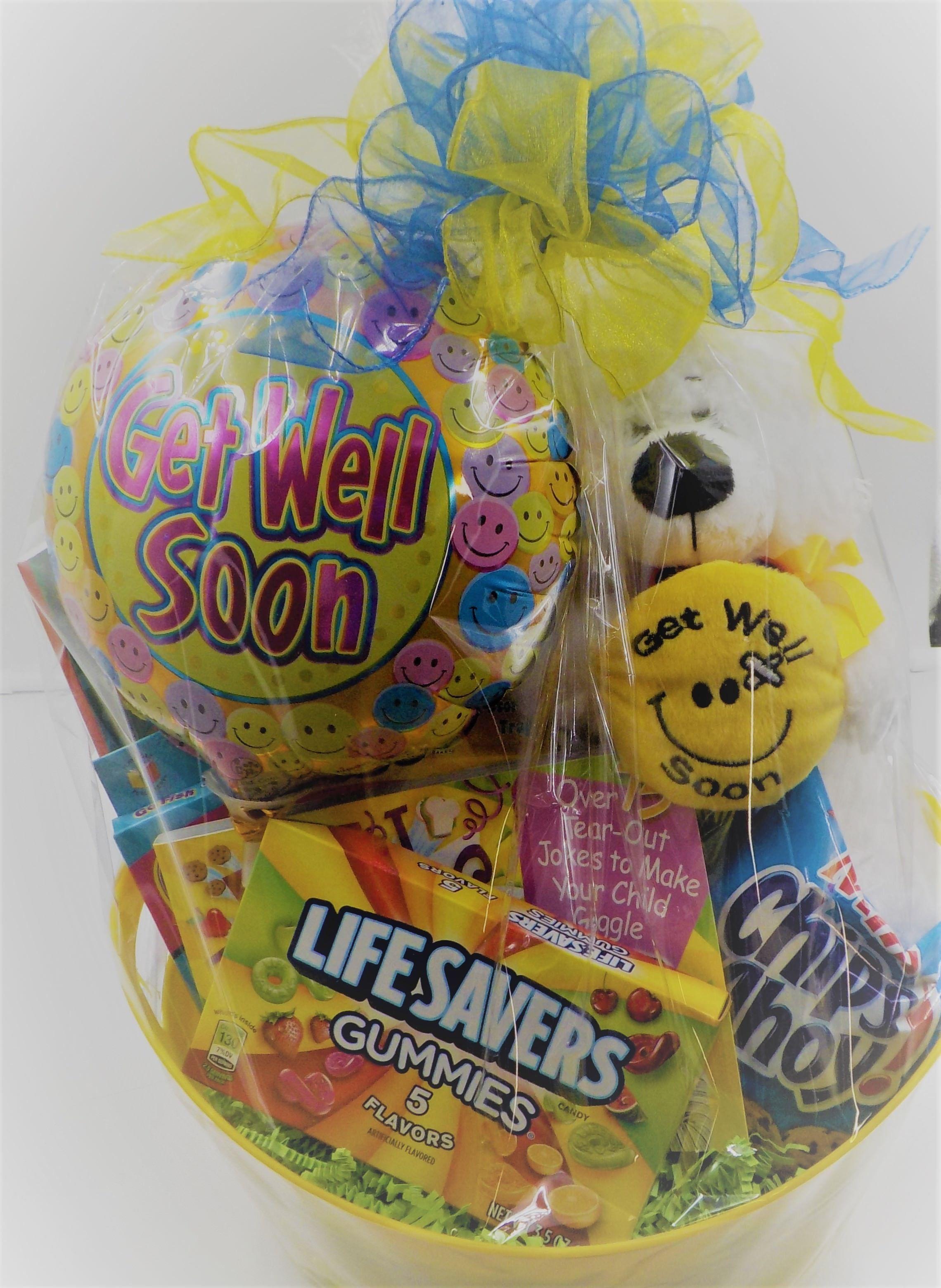 get well soon – child gift basket | kind magnolia gift basket ideas