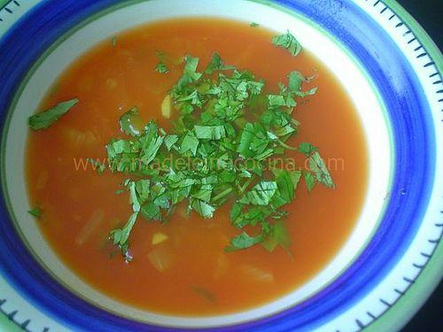 Sopa india de tomate | Madeleine Cocina