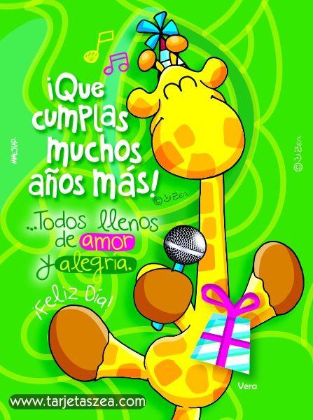 Tarjeta De Cumpleanos Amor Y Alegria Hoy Y Cada Dia Postales De