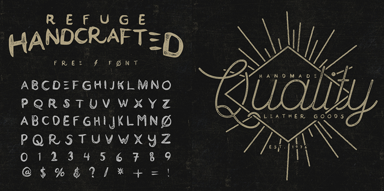 20 Beautiful and Free Hand-Drawn Fonts