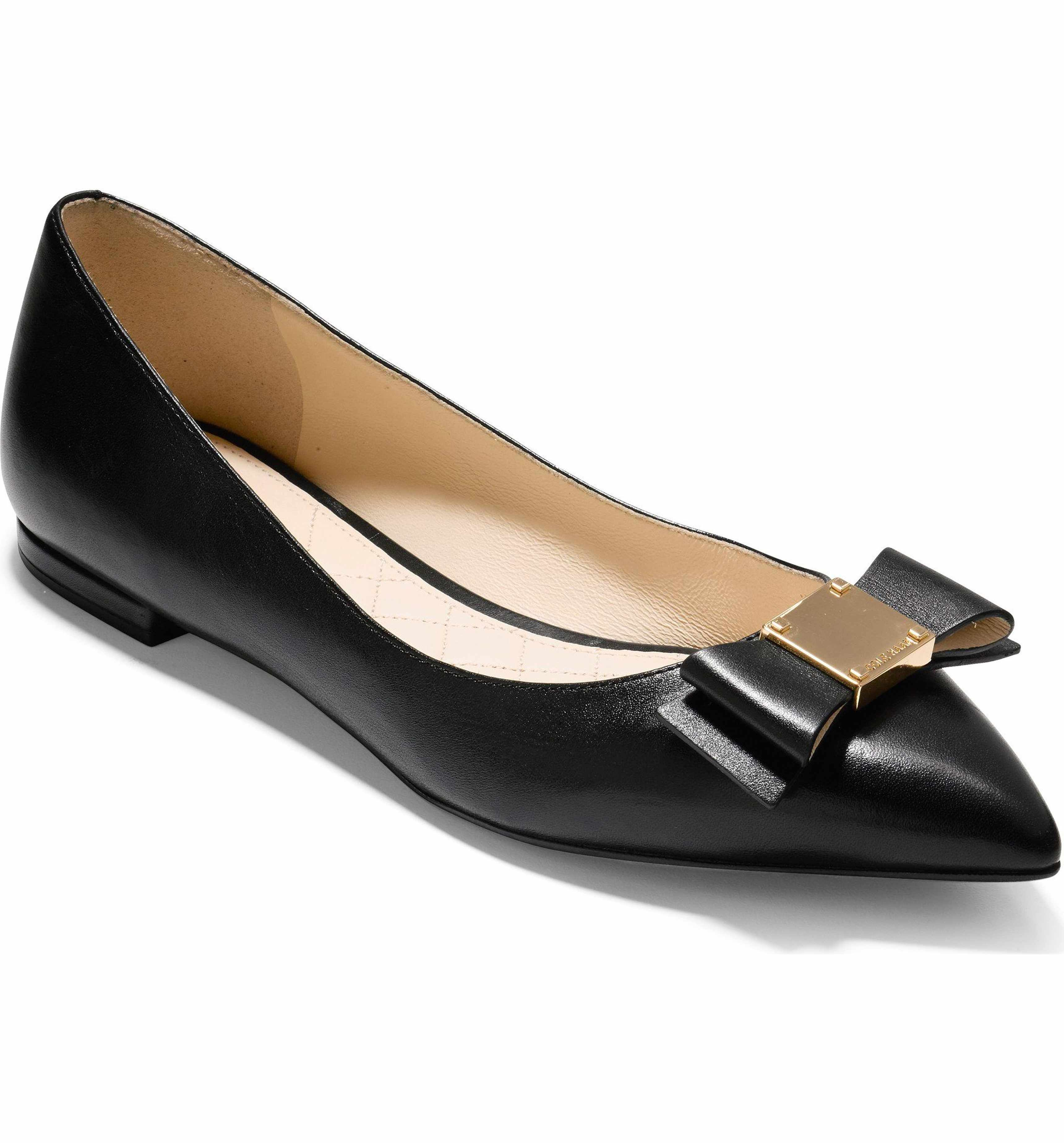 5090fc916 Main Image - Cole Haan Tali Bow Skimmer Flat (Women) | work shoes ...