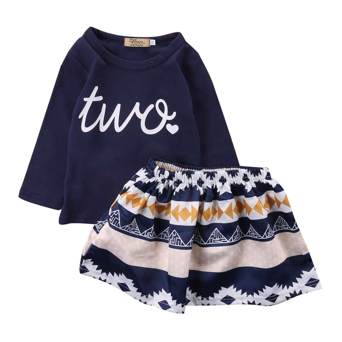 7a3b9da60 Click to Buy << 2PCS Toddler Kids Girls Clothes 0-4Y Baby Girl Long Sleeve T -shirt Tops Skirt Outfit Cute Bebes Princess Suit Clothing Set #Affiliate