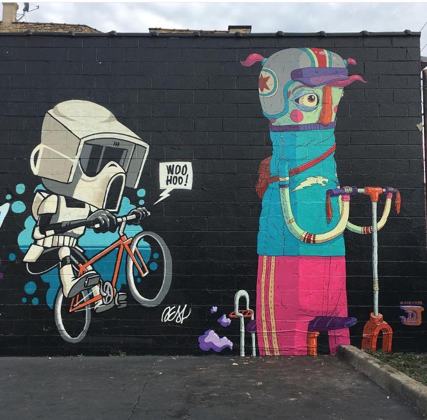 Deal35 Joeyd76 In Chicago Il Usa 2017 Grafite Graffitis