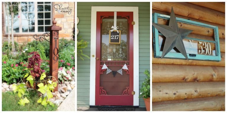 12 Diy House Number Displays That Will Instantly Up Your Curb