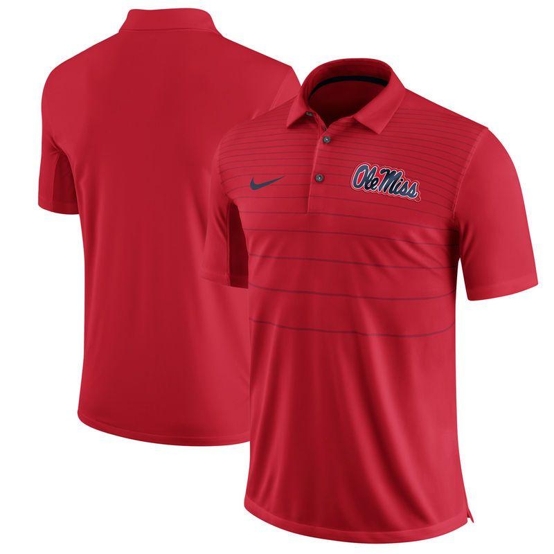 Ole Miss Rebels Nike 2017 Early Season Polo - Red