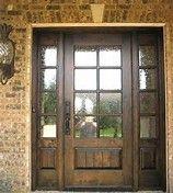 wood front door with glass - Bing Images