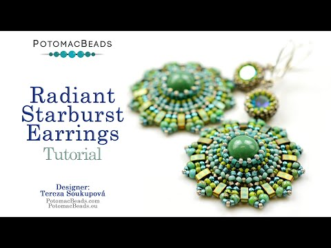 Photo of Radiant Starburst Earrings – DIY Jewelry Making Tutorial by PotomacBeads