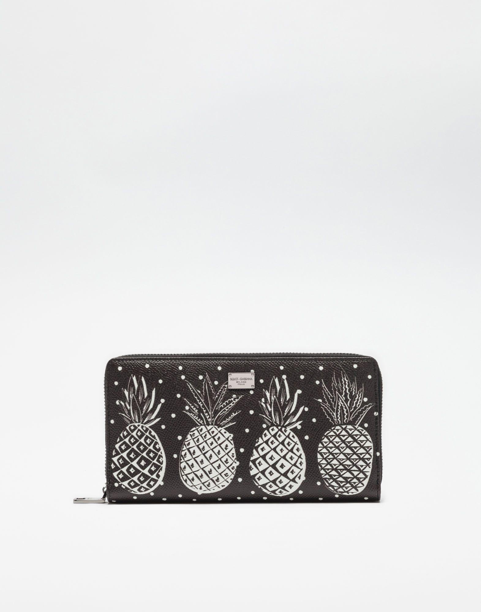 fb0b986f6b DOLCE   GABBANA Zip-Around Printed Dauphine Leather Wallet.  dolcegabbana