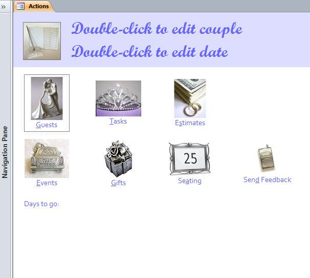 Wedding Planner Access Database Template | project | Pinterest ...