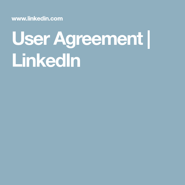 User Agreement Linkedin Fat Burning Pinterest