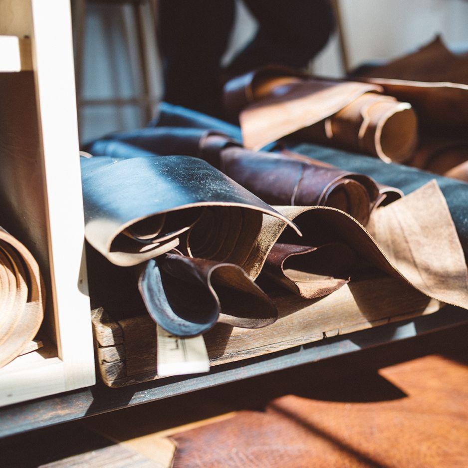 J. Stark raw materials - leather, usa made