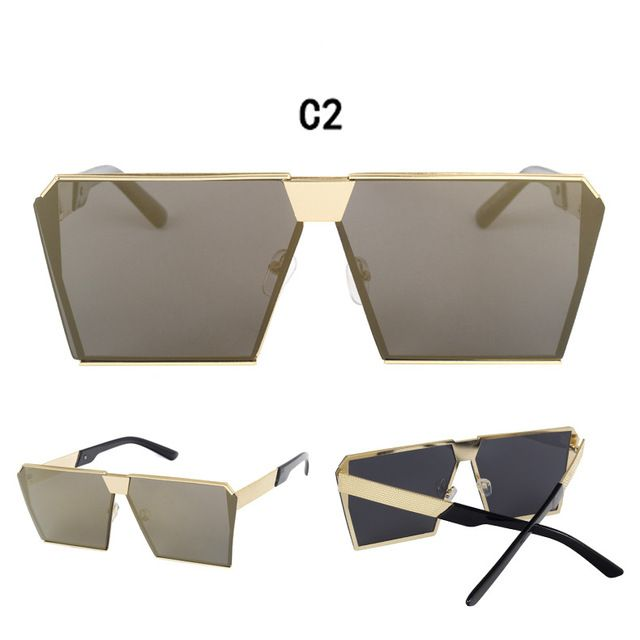 2017 Square Frame Fashion Sunglasses Luxury Designer Oversized Oculos Men UV400