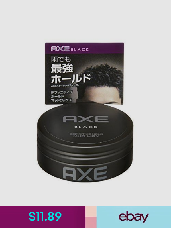 Axe Black Definitive Strong Hold Matte Hair Styling Mud Wax 65g Japan New Axe Hair Products Hair Styles Black Hair