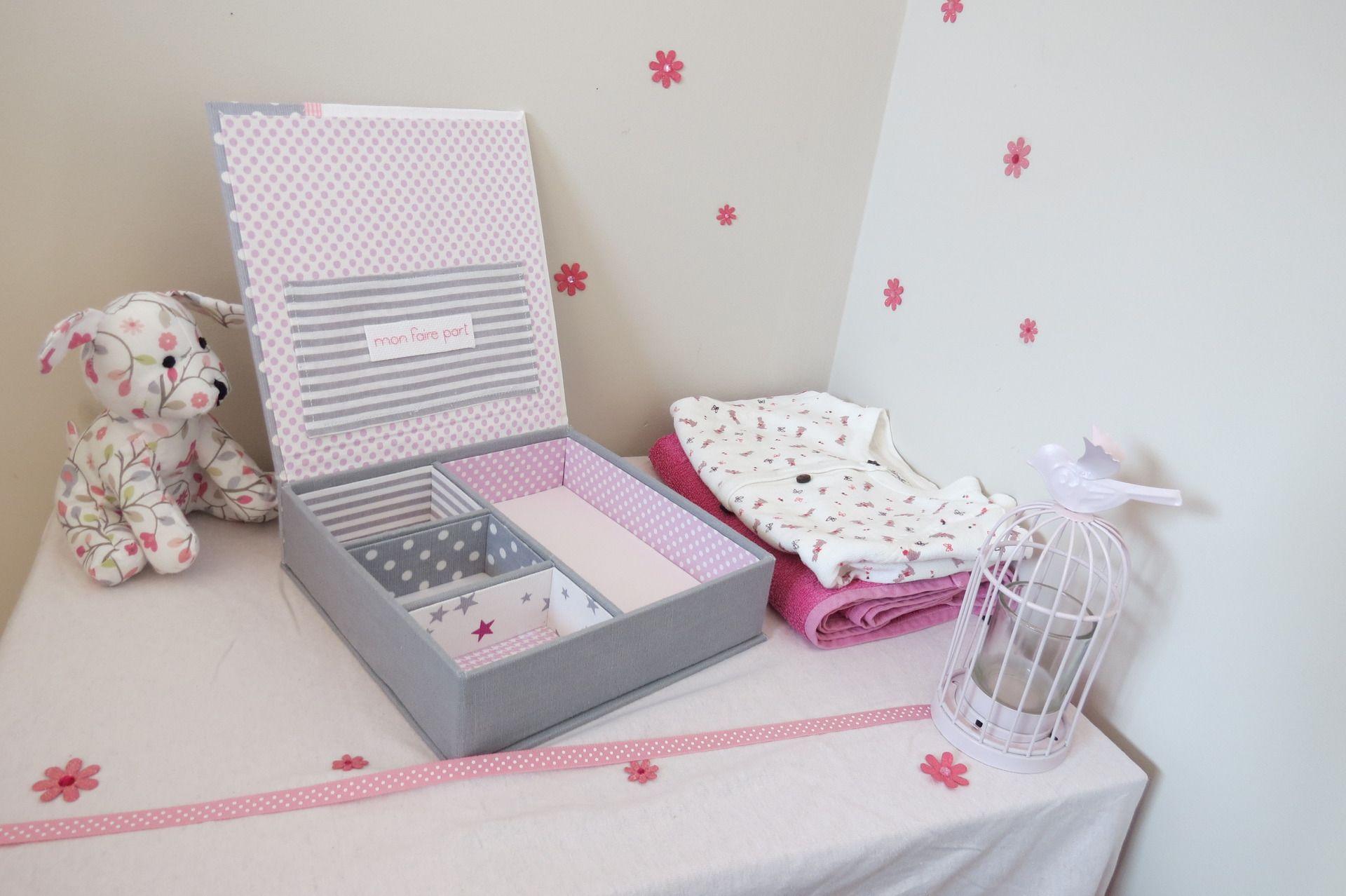 coffret de naissance fille personnalisable pour ranger tous les premiers souvenirs de votre b b. Black Bedroom Furniture Sets. Home Design Ideas