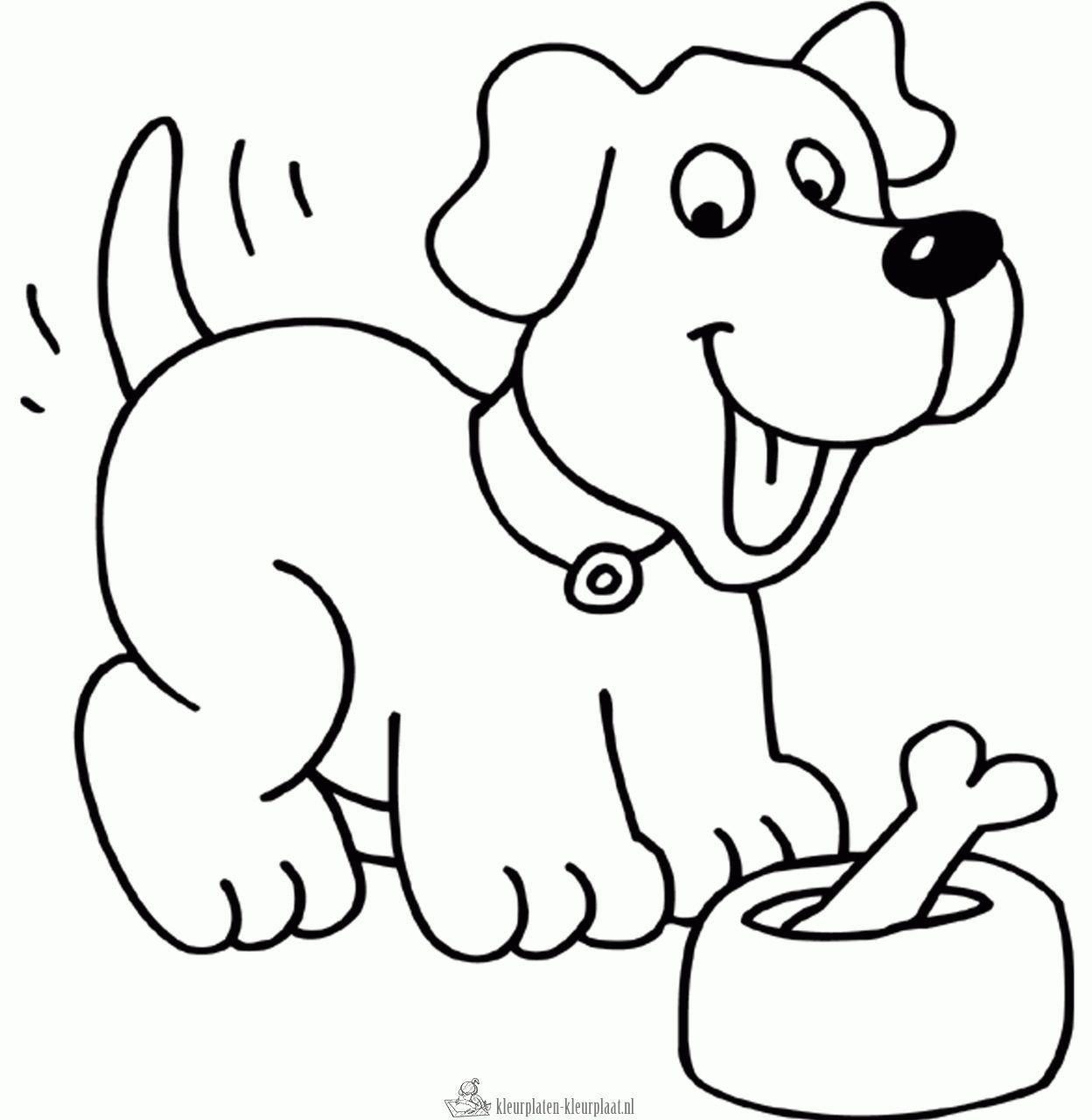 kleurplaat hond kleurplaten dieren kleurplaten disney