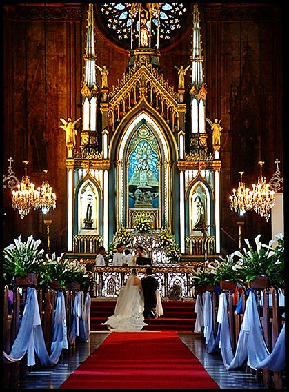A Wedding San Sebastian Church Manila