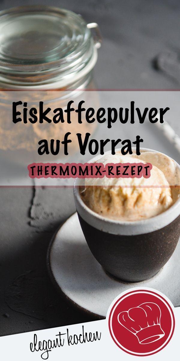 Sommergetränk im Thermomix auf Vorrat. Schnelles Eiskaffeepulver Rezept mit nur #2Zutaten #ohneZucker #veganicedcoffee #eis #eiskaffee #eiskaffeepulver #icedcoffee. Trinke ich am Liebsten mit #VanilleSojamilch #proteinshakes
