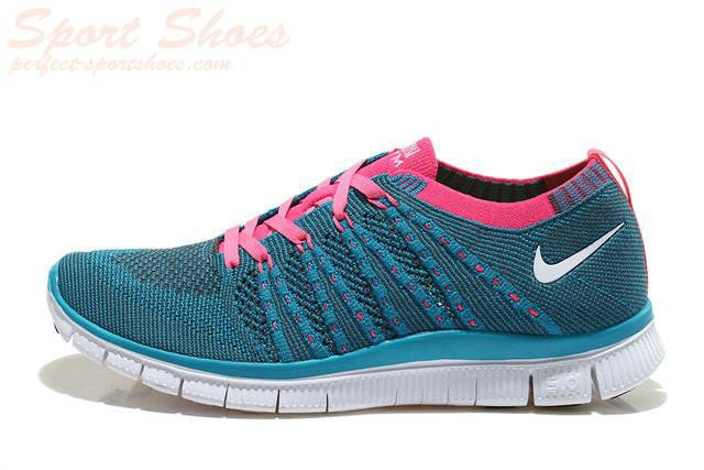 low priced 1dfdc c49a1 2015 Authentic Nike Free 5.0 Flyknit Men Running Shoes On Sale Blue Pink