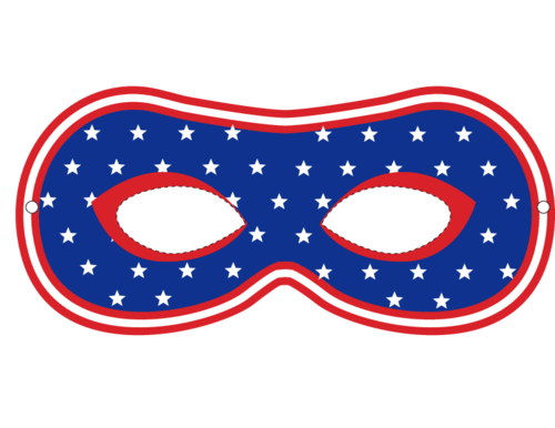 USA Party Masks – Stars and Stripes 2 #Independence #Day #Party #Celebration #Decoration #Ideas