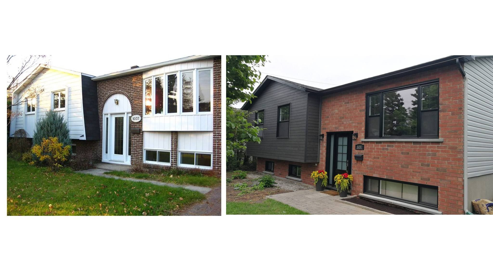 Before and After - Exterior home make over - Bungalow 70s ...