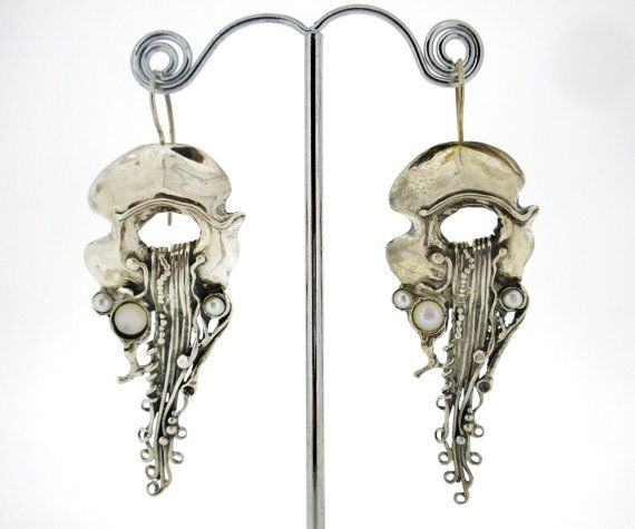 Porans Unique Handcrafted Sterling Silver Earrings by Porans