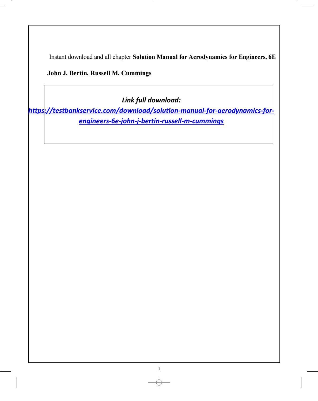 Download aerodynamics for engineers 6e john j bertin solution manual