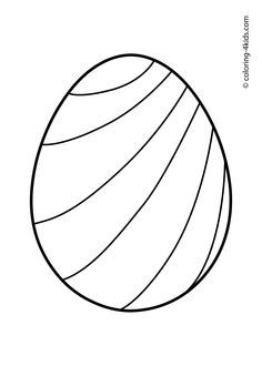 Easter egg coloring pages for kids, prinables free 01