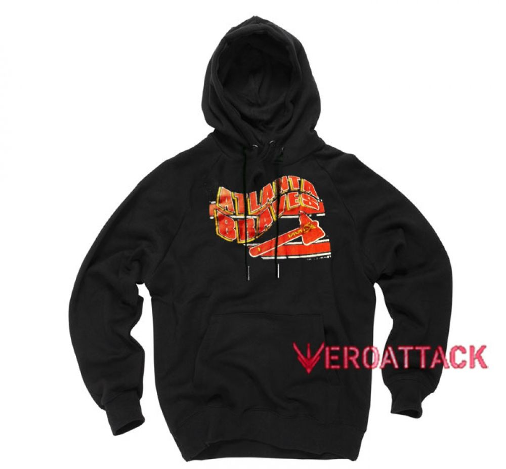 Vintage Atlanta Braves Baseball Black Color Hoodies Price 29 00 Tshirt Hoodies Custom Hoodies Valentino Black