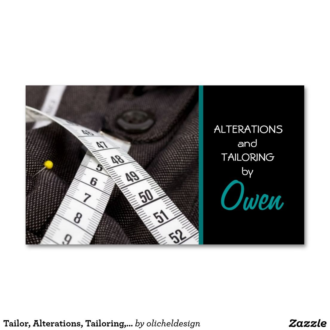 Tailor, Alterations, Tailoring, Seamstress, Tailor Business Card ...