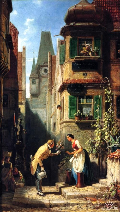 Carl Spitzweg, a famous German painter, painted this painting in the