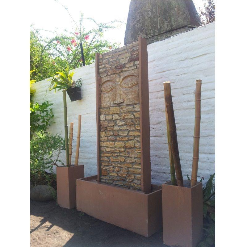 Cascada muro de agua fuente de agua pared de agua patio - Fuentes de exterior ...