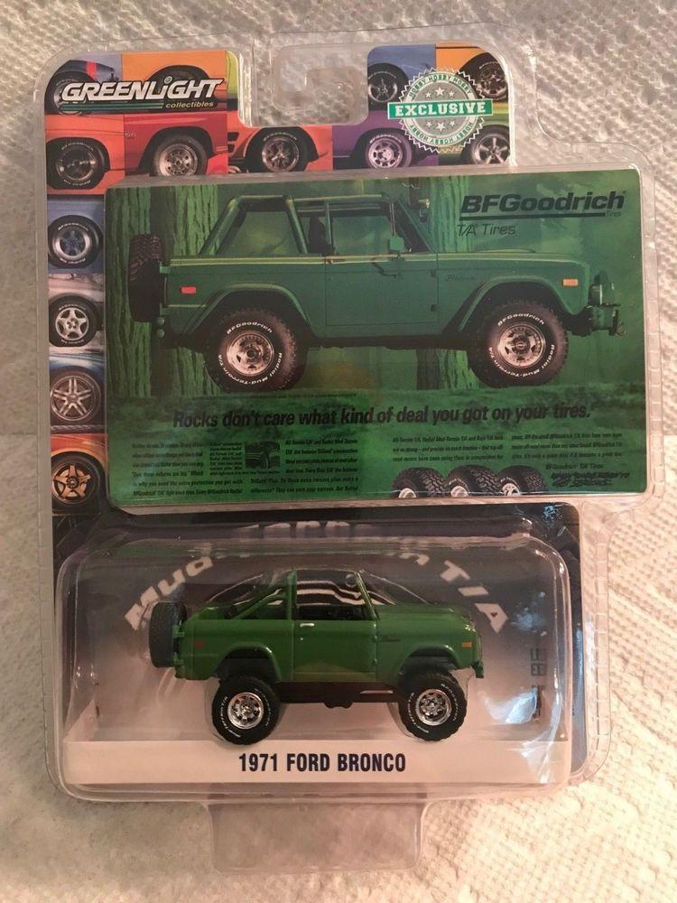 1 64 Greenlight Bfgoodrich Vintage Ad Cars 1971 Ford Bronco