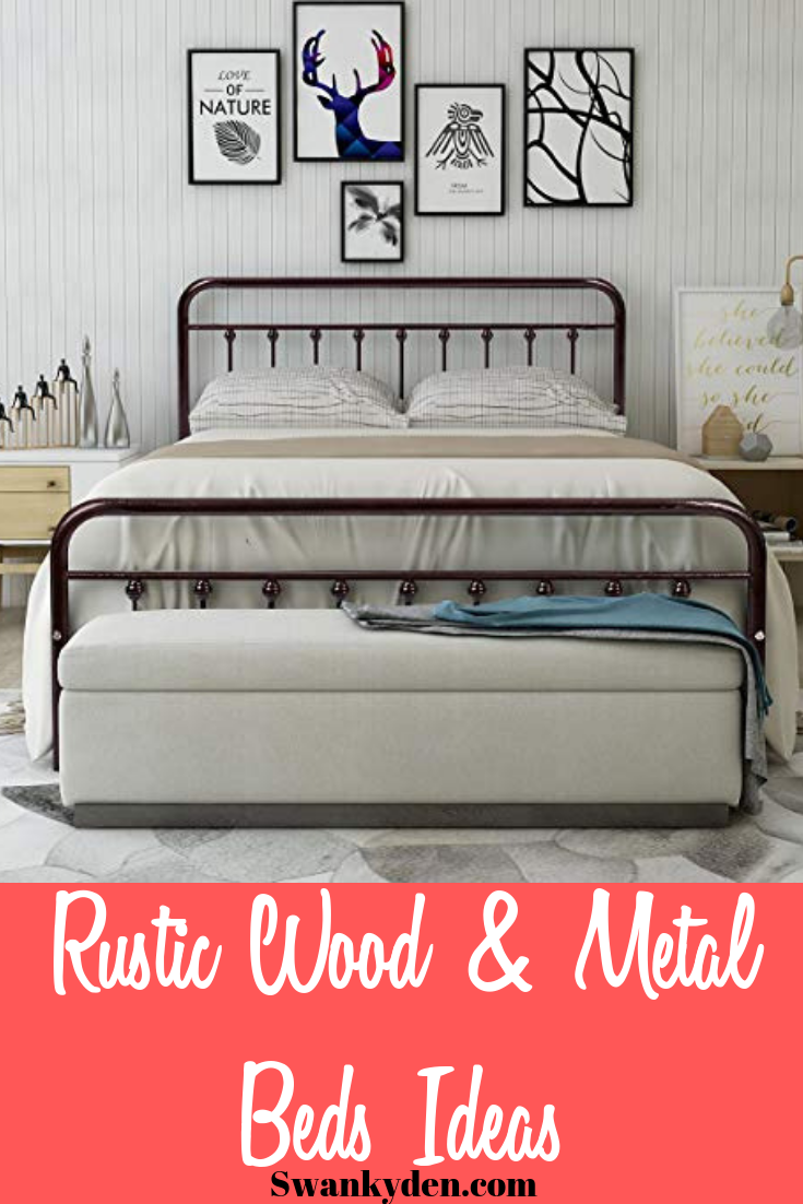 Best Wooden And Metal Rustic Bed Frames You Ll Love Rustic Bed Frame Bed Frame Rustic Bedding
