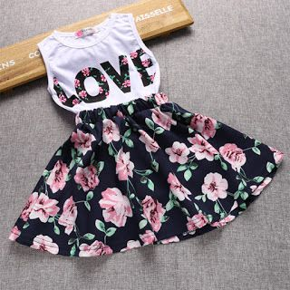 2388d252271f Girls Sets Summer Clothing Two Piece Sets Print LOVE Sleeveless ...