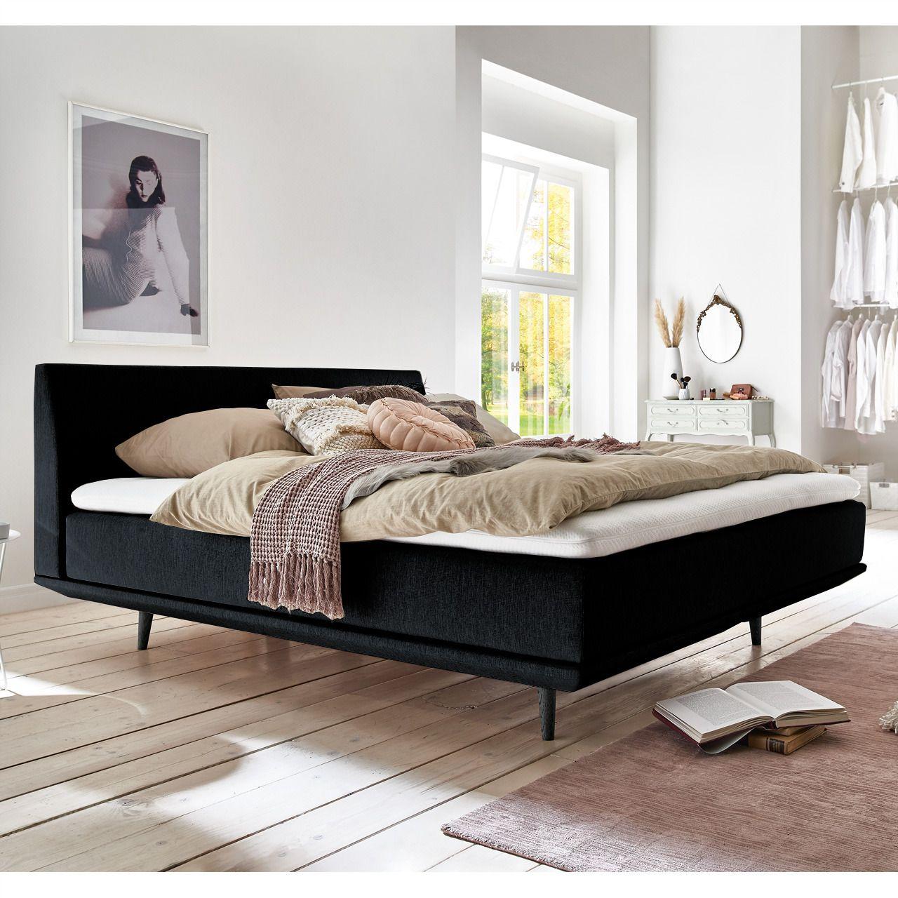 Minimum Collection Piano Black Boxspringbett Bett Kopfteil Bett