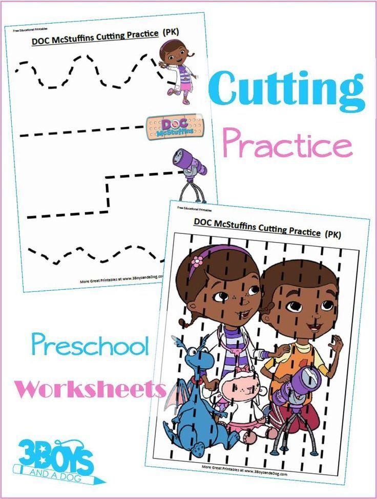 Doc Mcstuffins Preschool Cutting Practice Printable Downloads