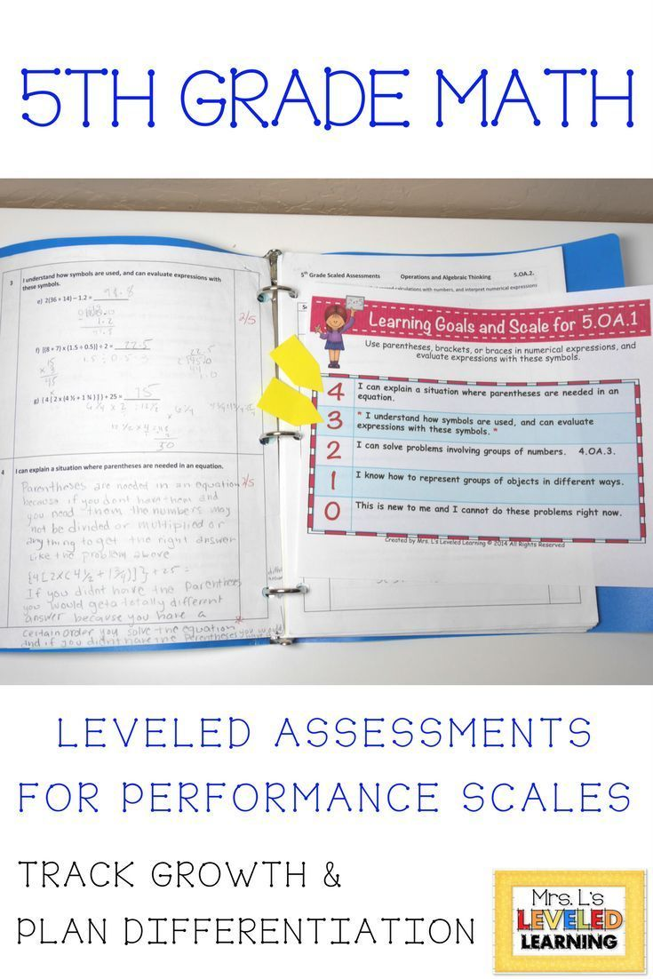 How do you assess student growth? FREE Editable 5th Grade Math ...