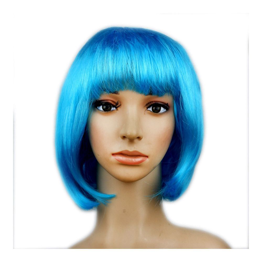 Womenus sexy short bob cut fancy dress wigs play costume ladies full