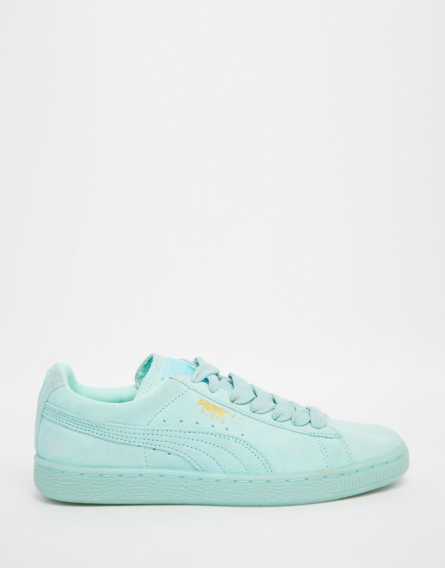 huge selection of 93088 d95df Puma Basket Suede Classic Mint Green Sneakers | Style in ...