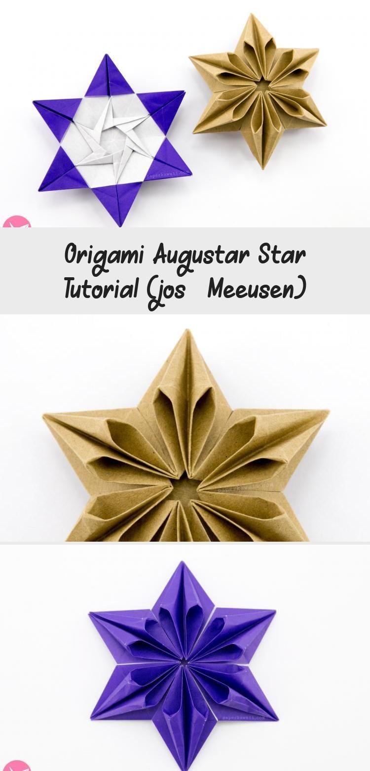 Photo of Origami Augustar Star Tutorial (José Meeusen) via Paper Kawaii #origamiWeihnach…