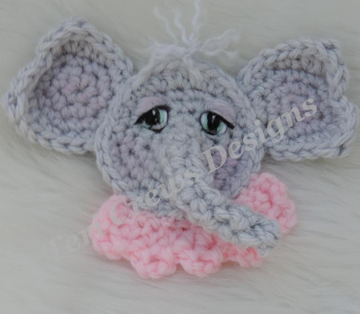 Cute Elephant Applique Crochet Pattern | Elephant applique, Crochet ...