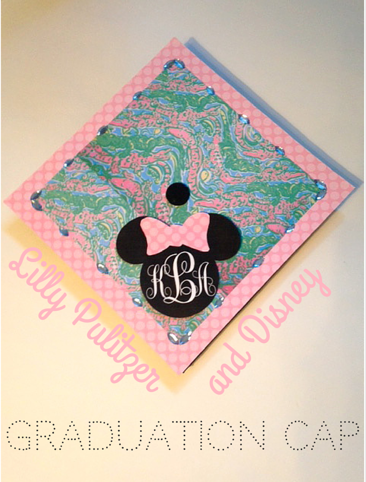 Lilly Pulitzer + Disney + Monogram Graduation Cap DIY